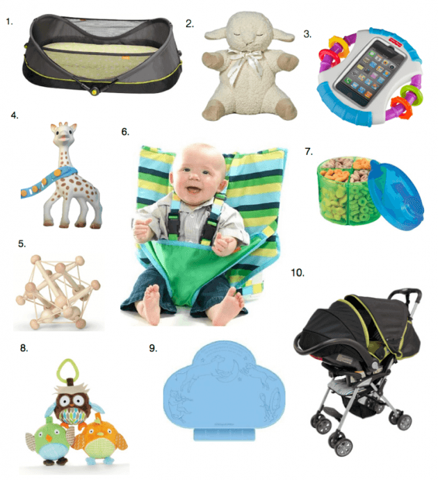 10 Great Items for Travel with Baby