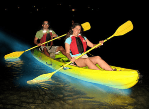 kayaking bioluminescent bay with kids puerto rico