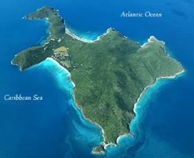 Guana Island Map