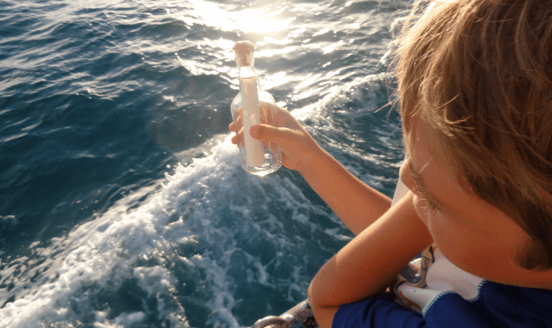 fun activity for travel – a message in a bottle kit