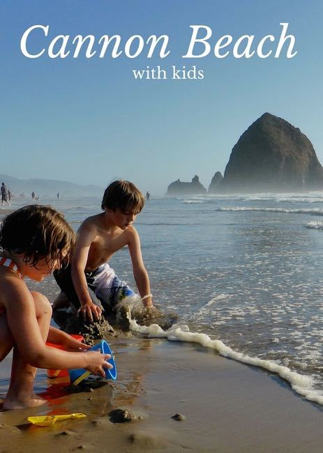 Cannon Beach with toddler