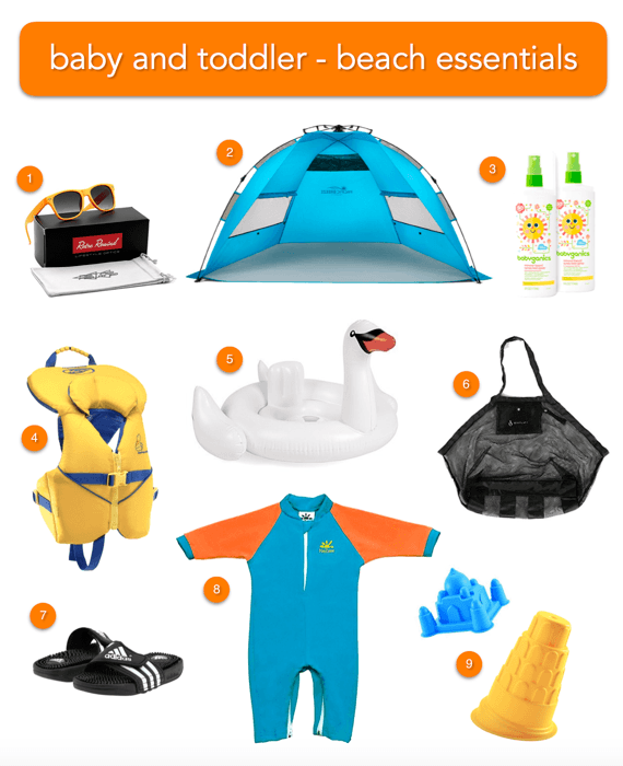 Baby and Toddler Beach Gear Essentials