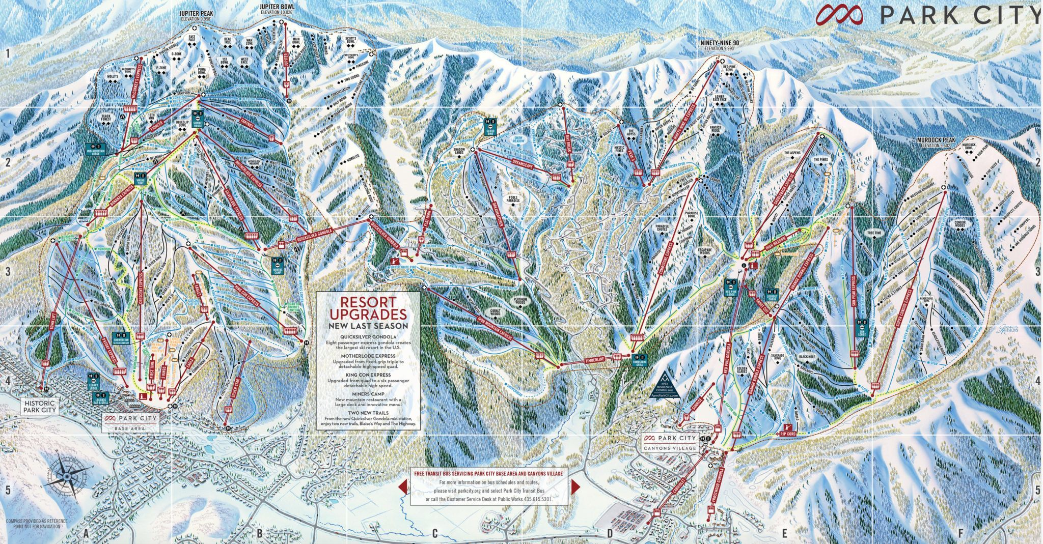 Park City Resort Map