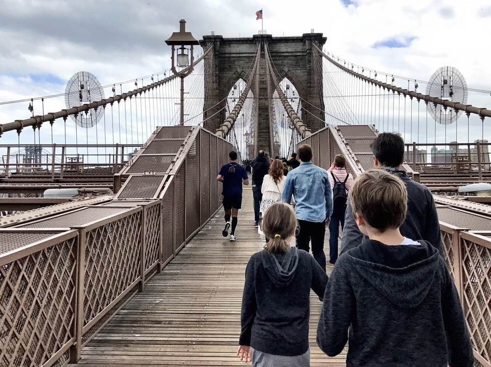 Walking the Brooklyn Bridge with Kids