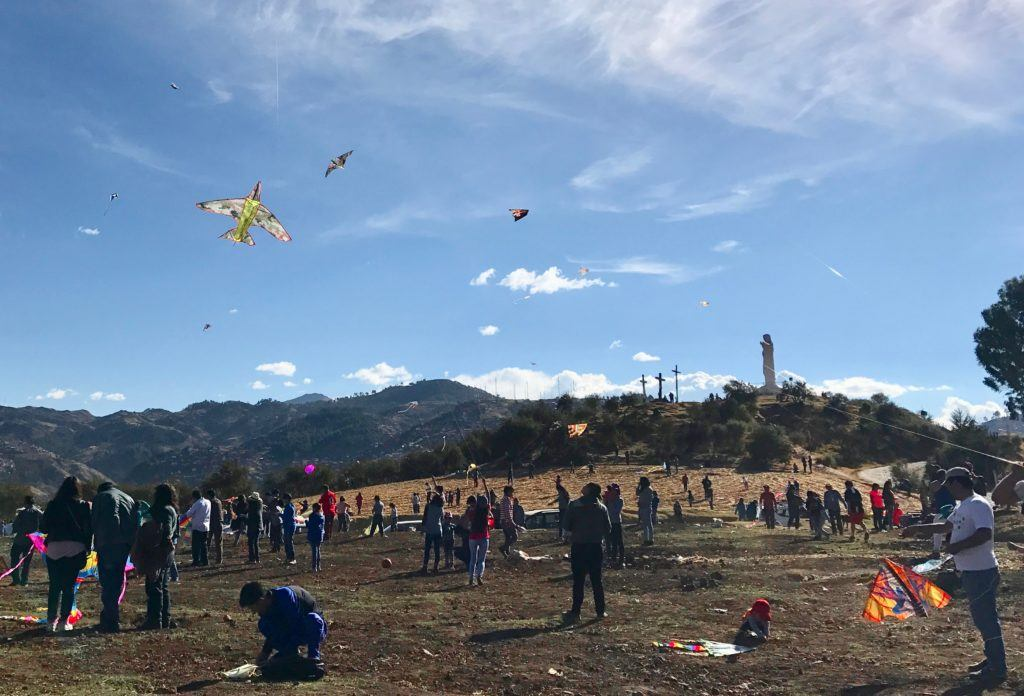 Flying Kites in Cusco