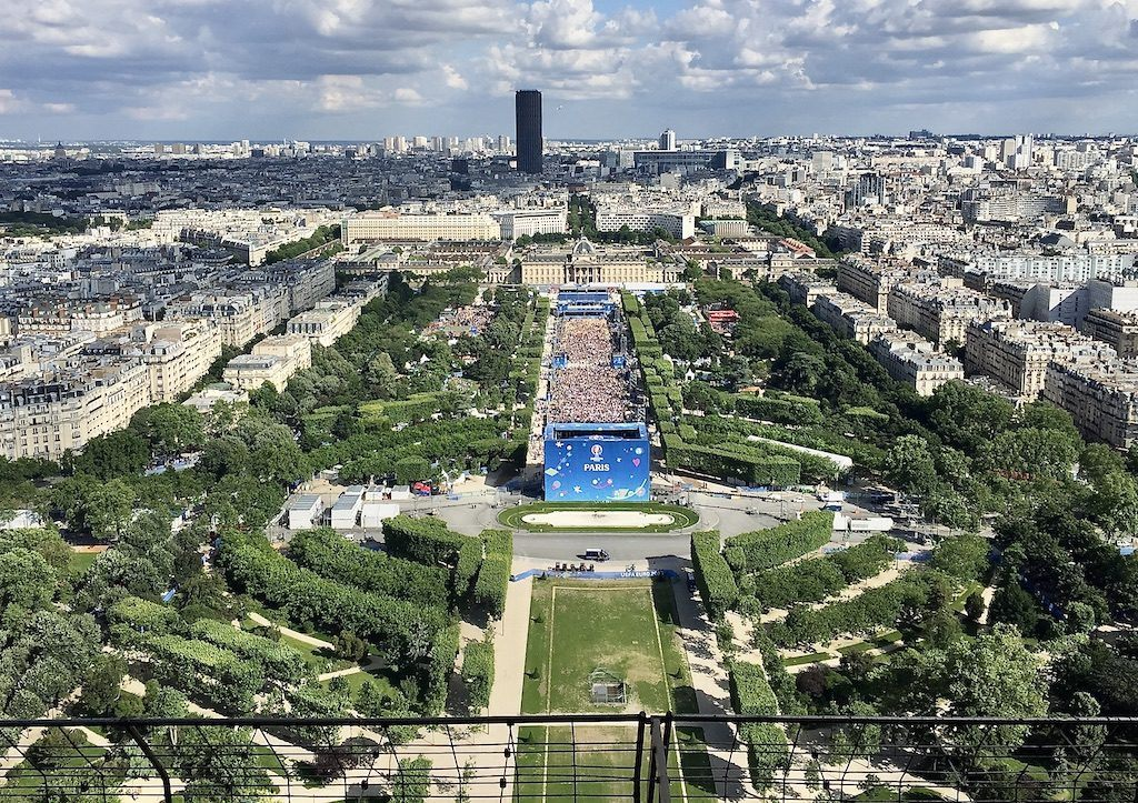 View of the Champs de Mars from the Eiffel Tower