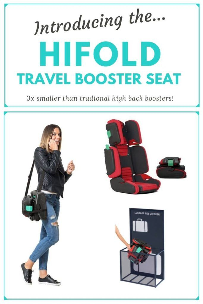 The hifold travel booster seat.