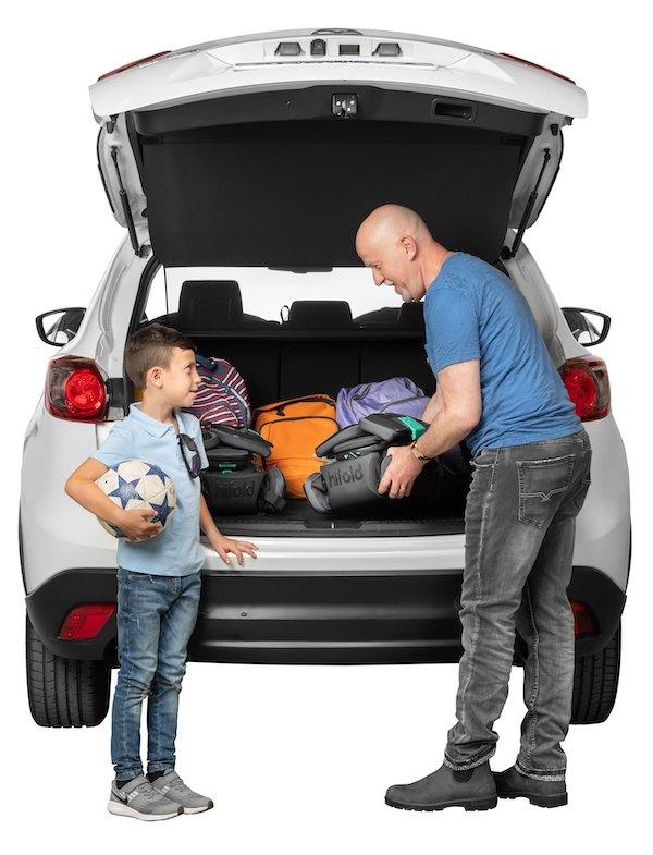 hifold narrow car booster seat