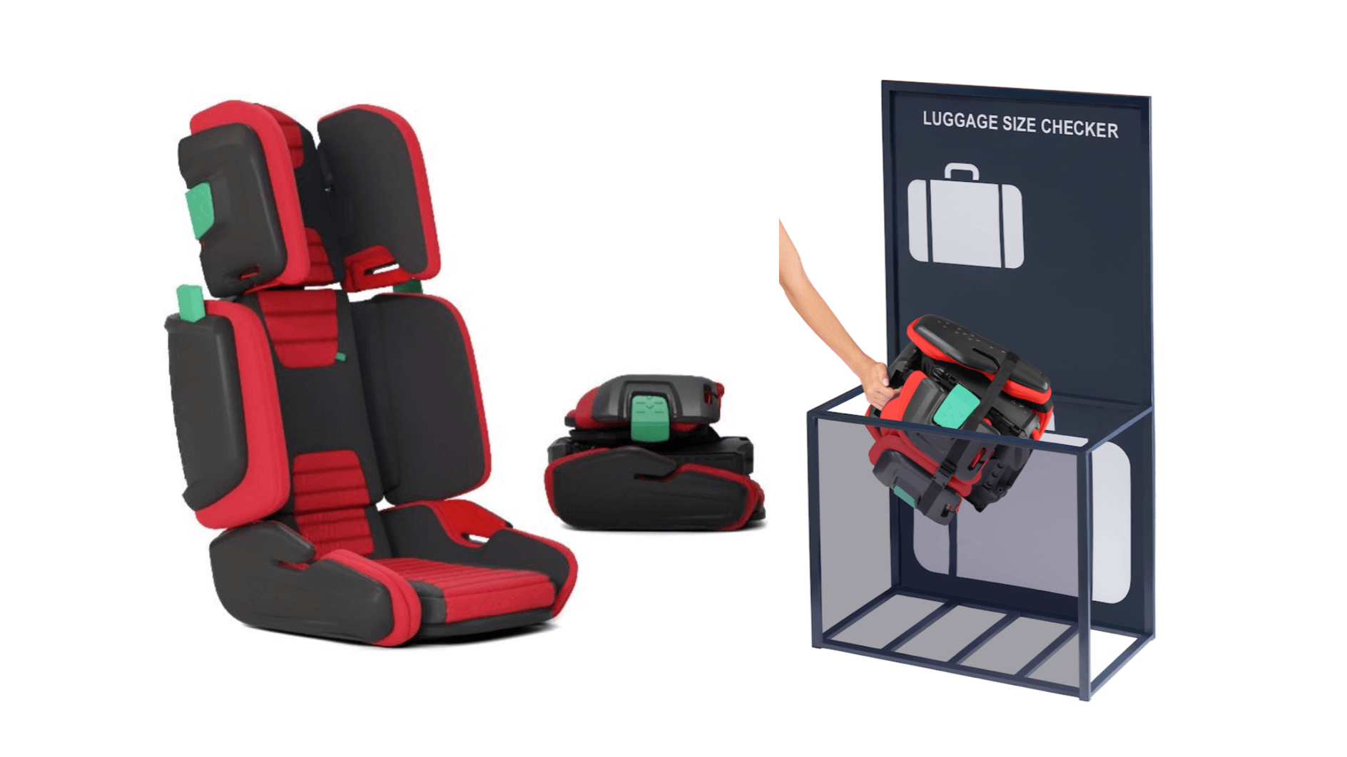 Sensational The Hifold High Back Travel Booster Seat A Foldable Light Ncnpc Chair Design For Home Ncnpcorg